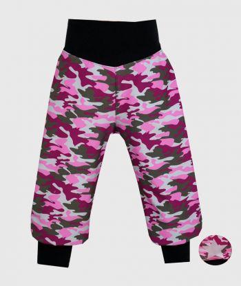 Waterproof Softshell Pants Camouflage Pink