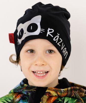Baggy Hat Reflex Cat Black