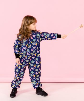 Waterproof Softshell Overall Comfy Unicorns Tale Jumpsuit