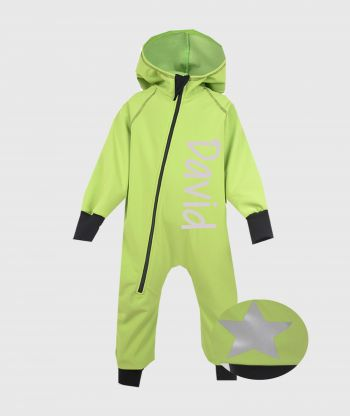Waterproof Softshell Overall Apple Green Jumpsuit