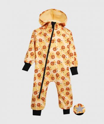 Waterproof Sofshell Overall Comfy Lions Yellow Jumpsuit