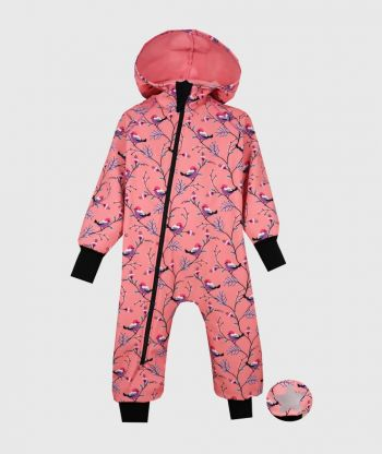 Waterproof Softshell Overall Comfy Little Birds Jumpsuit
