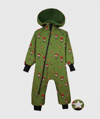 Waterproof Softshell Overall Comfy Pirates Jumpsuit