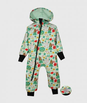 WATERPROOF SOFSHELL OVERALL COMFY PRINCESSES JUMPSUIT