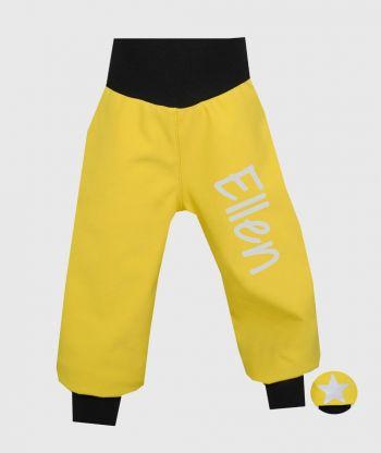 Waterproof Softshell Pants Mustard Yellow